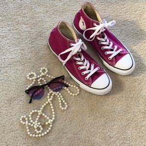 CONVERSE ALL*STAR/ RASPBERRY-HIGH TOP SNEAKERS/NEW